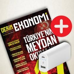 DERGİ + PROMOSYON - DERİN EKONOMİ - POWERBANK 5000 MAH