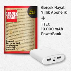 DERGİ + PROMOSYON - GERÇEK HAYAT - TTEC POWERBANK 10000 MAH